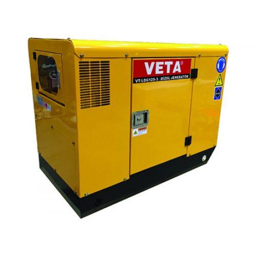 Veta VT-LDG12 / 11kW 20Hp Dizel Marşlı Çift Silindirli Monofaze Jeneratör