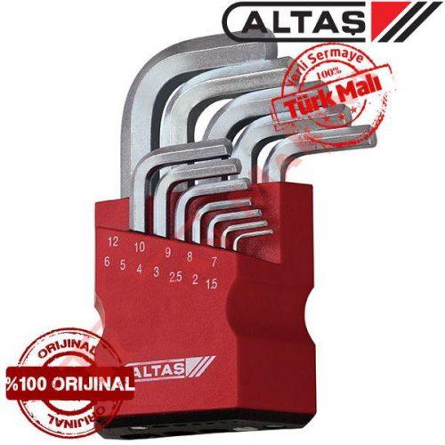 Altaş 42/0120 Altıköşe Allen Anahtar Takımı 12 Parça