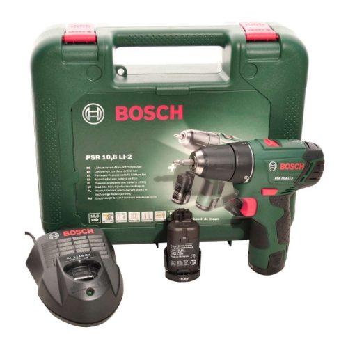 Bosch PSR 10.8 Li-2 Çift Akülü Vidalama Makinası 10.8V 2Ah