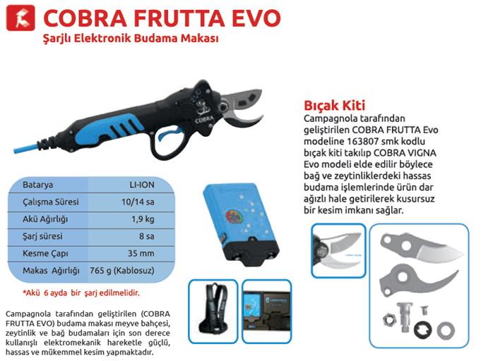 Campagnola COBRA FRUTTA EVO Şarjlı Elektronik Budama Makası