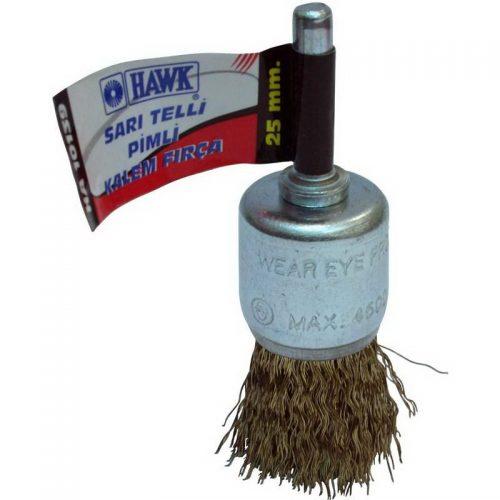 Hawk 25mm Sarı Telli Pimli Kalem Fırça // HA-10139