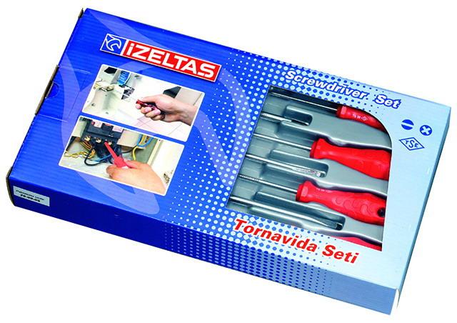 İzetaş 4300 Tornavida Seti Rod Seri 7 Parça