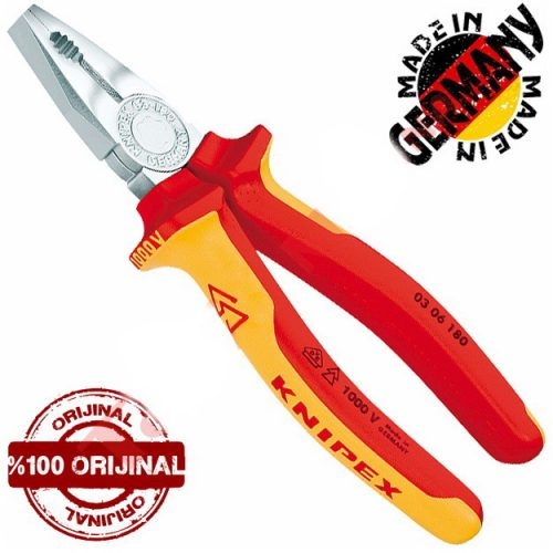 Knipex 0306180 Krom Kombine Pense 180mm