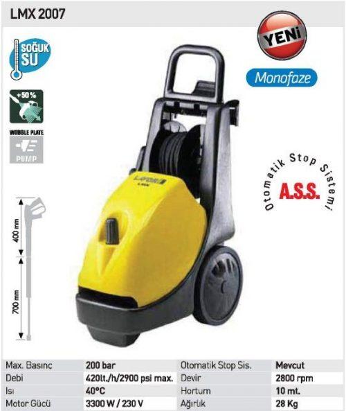 Lavor LMX 2007 / 200Bar 3300W Yüksek Basınçlı Yıkama Makinası