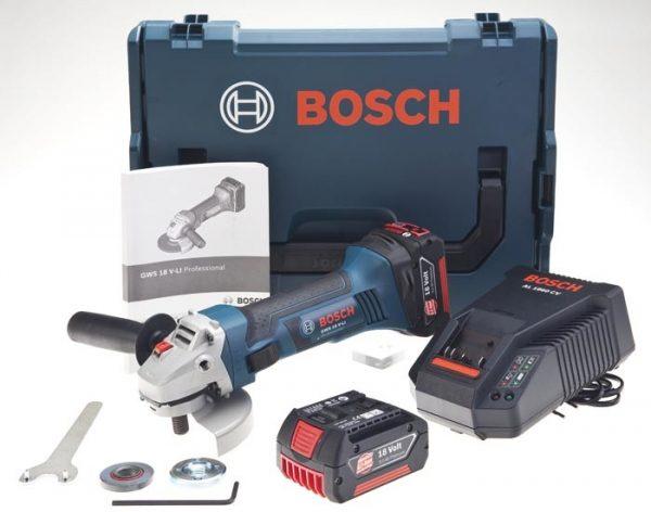 Bosch GWS 18-125 V-Li Çift Akülü Taşlama Li-ion 18V 4Ah