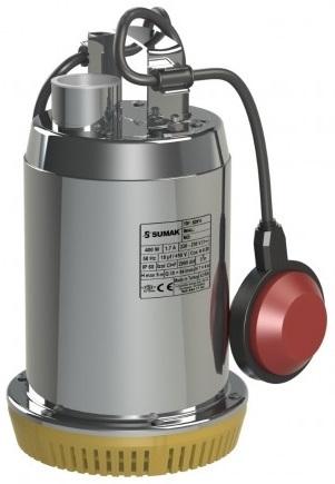 Sumak SDF6 Paslanmaz Gövdeli Drenaj Dalgıç Pompa 0.5Hp