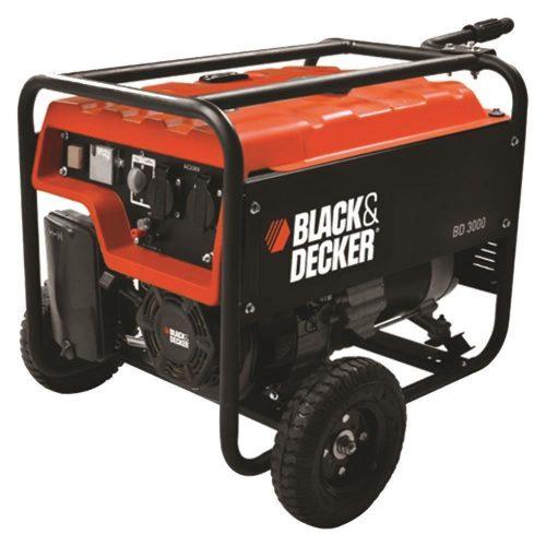Black&Decker BD3000 2.7kW Monofaze Tekerlekli Benzinli Jeneratör