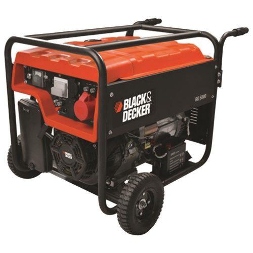 Black&Decker BD5500 5.5kW Trifaze Tekerlekli Benzinli Jeneratör