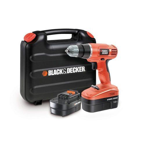 Black&Decker EPC18CABK 18Volt/1.0Ah Ni-Cad Çift Akülü Matkap