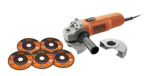 Black&Decker KG115A5 750Watt 115mm Avuç Taşlama + 5 Taş Hediyeli