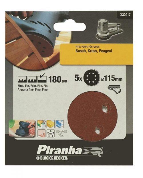 Black&Decker X32017 5 Parça 115mm Eksantrik Zımpara Kağıdı