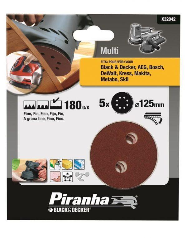 Black&Decker X32042 5 Parça 125mm Eksantrik Zımpara Kağıdı