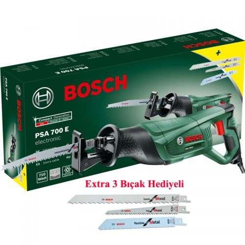 Bosch PSA 700 E Kılıç Testere 710W + 3 Bıçak Hediyeli