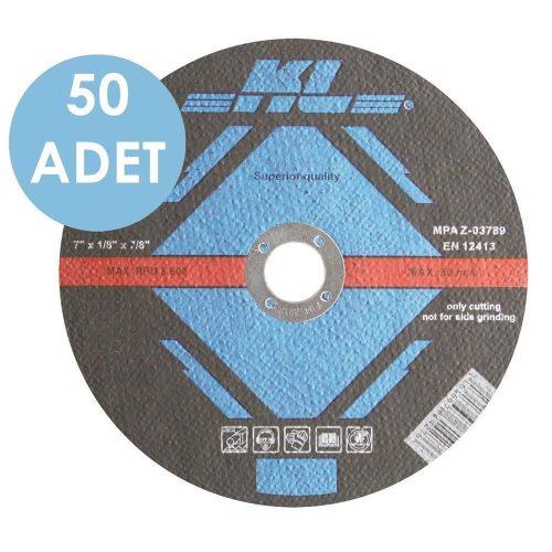 KL KLT180 50 Adet 180x22.2 mm Metal Kesme Diski Düz