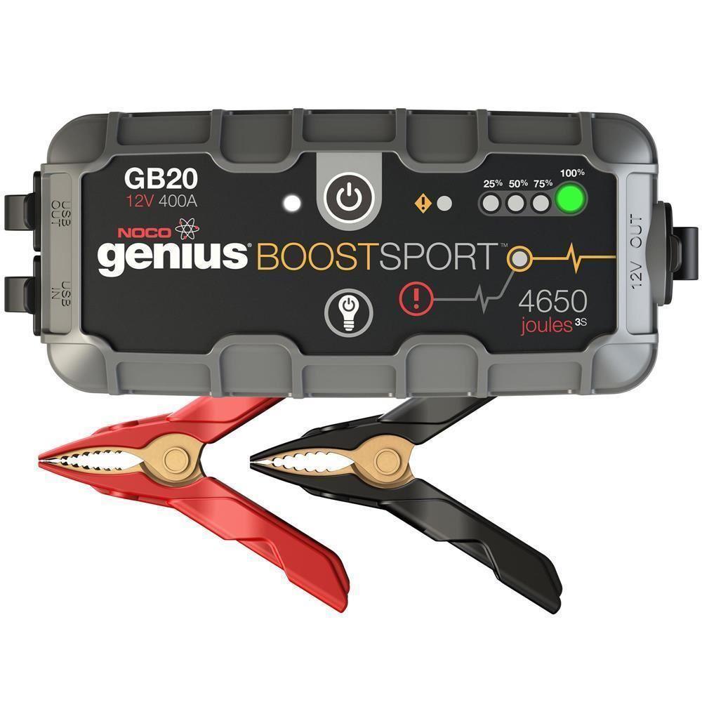 NOCO Genius GB20 12V 400Amp Ultrasafe Lityum Akü Takviye + Powerbank + Led Lamba