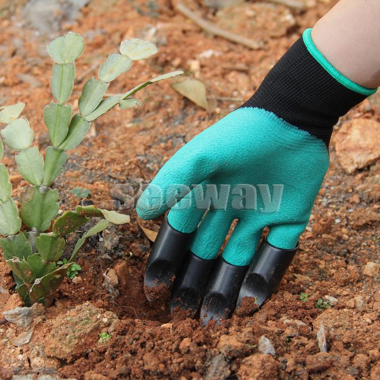 Bahçe Eldiveni Plastik Uçlu Profesyonel Bahçıvan Eldiveni
