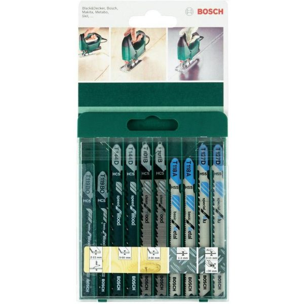 Bosch Dekupaj Testere Bıçağı 10 Parça