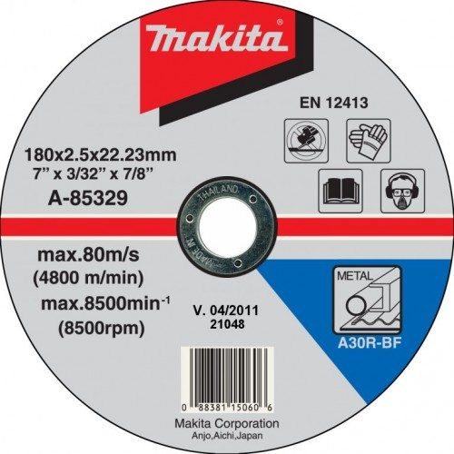 Makita Düz Flex Taş 180x2.5mm A-85329