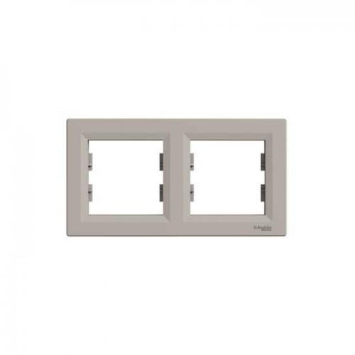 Schneider Asfora Bronz İkili Yatay Çerçeve EPH5800269