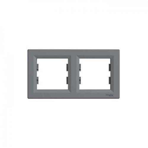 Schneider Asfora Çelik İkili Yatay Çerçeve EPH5800262
