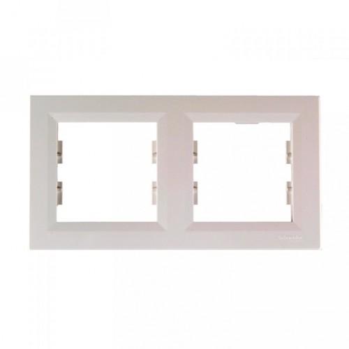 Schneider Asfora İkili Beyaz Yatay Çerçeve EPH5800221