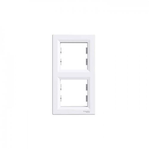 Schneider Asfora İkili Dikey Beyaz Çerçeve EPH5810221