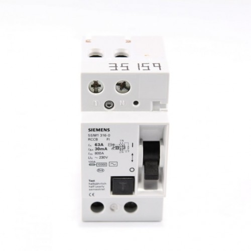 Siemens 5SM1 316-0 Monofaze 30 MA 6 Kaçak Akım Koruma Rölesi