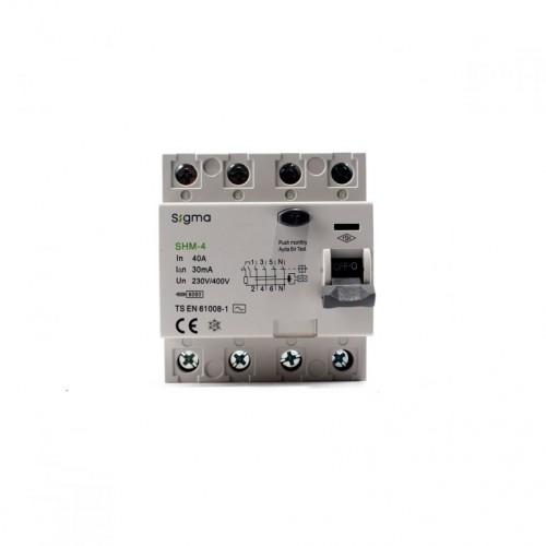Sigma SHM4040030 SHM-4 6KA 30MA 40A Kaçak Akım Koruma