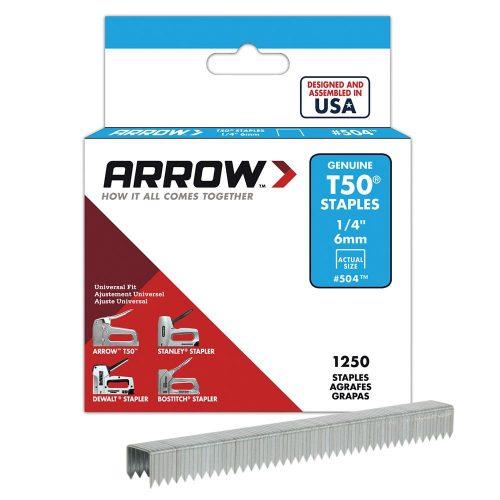 Arrow AR504 6mm 1250 Adet Profesyonel Zımba Teli