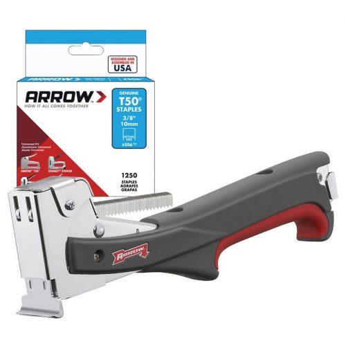 Arrow HTX50 8-12mm Profesyonel Çekiç Tipi Mekanik Zımba Tabancası + 1250 Adet Zımba