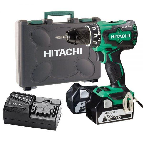 Hitachi DS18DBSL 18Volt/5.0Ah Li-ion Çift Akülü Kömürsüz Profesyonel Vidalama